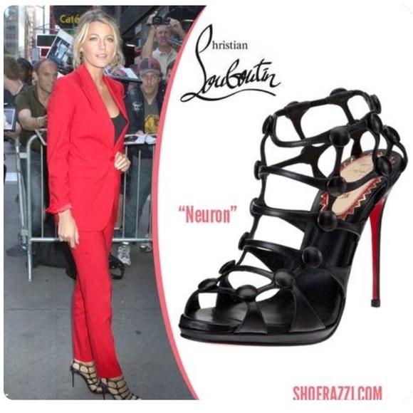 1eb5936befc ... italy christian louboutin u2022 neuron caged sandal heels 818a9 7f8dd